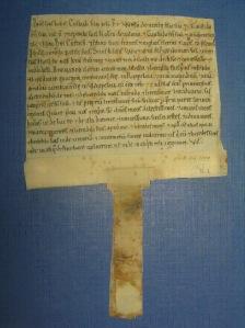 Old parchment document