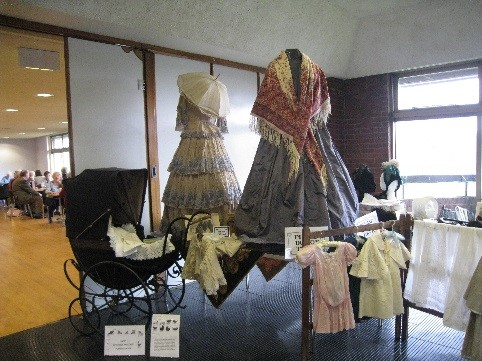 Victorian clothing display