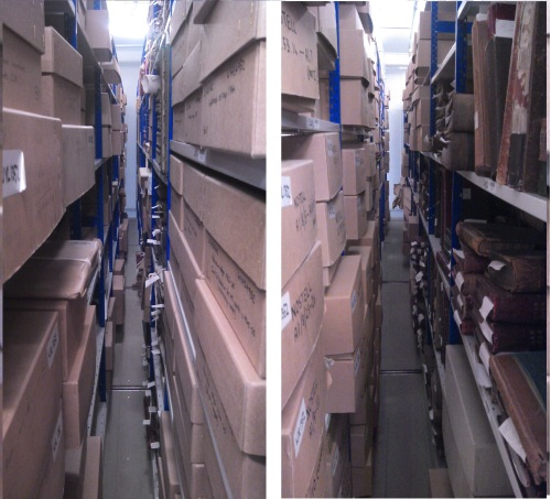 The Nostell Collection in the stores at WYAS, both exciting & daunting!