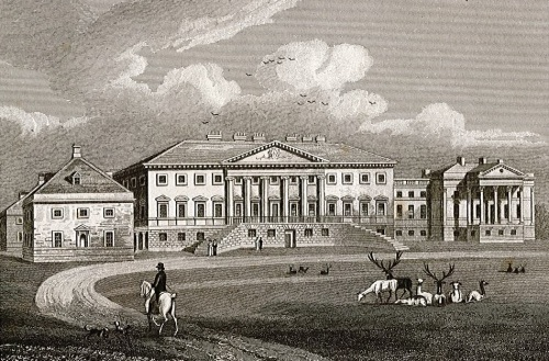 Nostell Priory (General View), Yorkshire, The Seat of Charles Winn Esq. Engraving by J Neale, 1829 (WYL1352-C3-1-4-[1060])