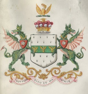 Coat of Arms of Rowland Winn, 1st Baron St Oswald 1885